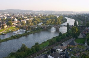 Mosel bei Trier - Moselle at Trier